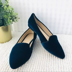 Nine West flats pointy toe navy velvet size 7 M